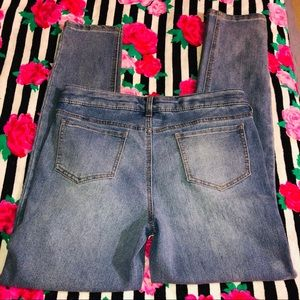 Cat & Jack Bottoms - Girls Cat & Jack Jeans With Kitty Knees